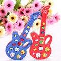 1 PC Crianças Música Eletrônica Brinquedos Guitarra Instrumento Musical 12 canções de Ninar Bebê Precoce Educacional Brinquedos de Plástico Eletrônico