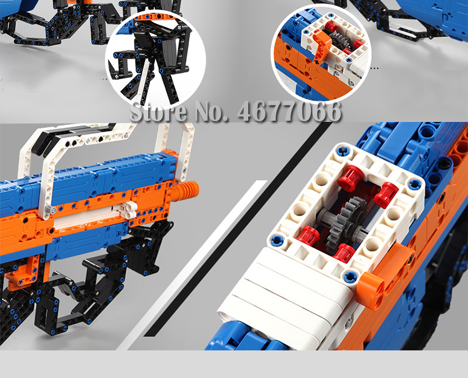building blocks P90 Assualt Rifle gun  military bricks weapon set can fire  rubber band  toy for children boys 21
