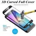 Colorful 3d curvada cubierta completa de vidrio templado protector de pantalla de cine para samsung galaxy s6edge s6 edge plus s7 borde s7edge