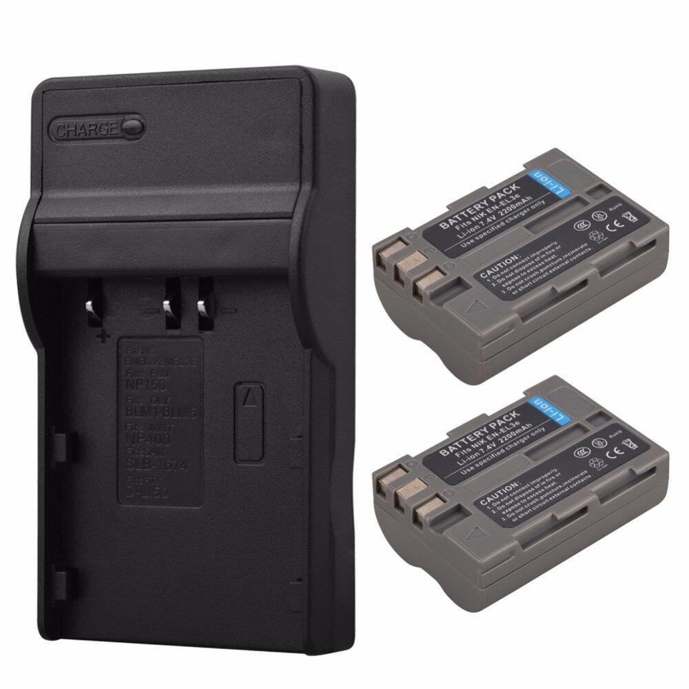 2x 2200mAh EN-EL3E ENEL3E Battery+USB charger for Nikon D90 D80 D300 D300s D700 D200 D70 D50 D70s D100 D-100 D-300 D-70 D-90 SLR 2x 2200mah en el3e enel3e battery usb charger for nikon d90 d80 d300 d300s d700 d200 d70 d50 d70s d100 d 100 d 300 d 70 d 90 slr