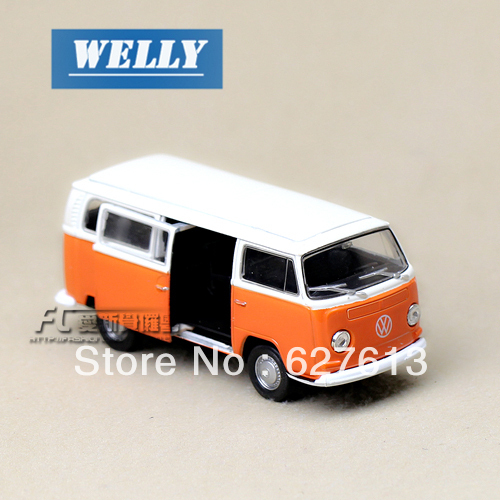 Wholesale!FREE SHIPPING!(10pieces) 100% Brand New car's model Wyly welly volkswagen boxed t2 bus 1970 alloy car models toy