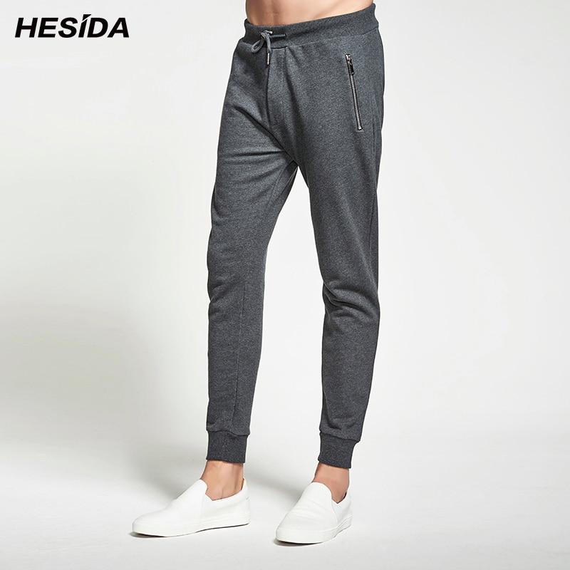 Men Pants 100% Pure Cotton Zipper Pockets Joggers Sweatpants Male Trousers Sweat Track Pants Casual Tracksuit Bottoms Men
