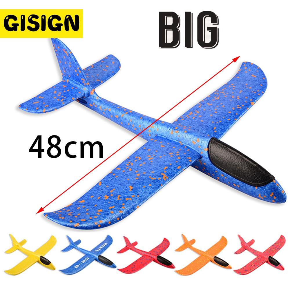 48CM mousse avion planeur main jeter avion planeur jouet avions EPP lancement en plein air enfants jouets pour enfants garçons cadeau 1