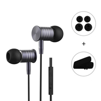 New I8 Wired Metal Magnet Earphones 3 5mm Bass Headset With Mic Volume Control HIFI Headphone