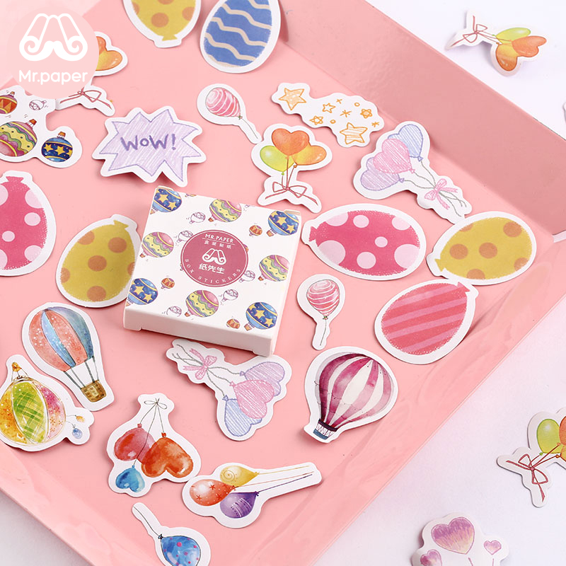 Mr.paper 40Pcs/box Candy Fairy Tales Deco Diary Stickers Scrapbooking Planner Japanese Kawaii Decorative Stationery Stickers 3