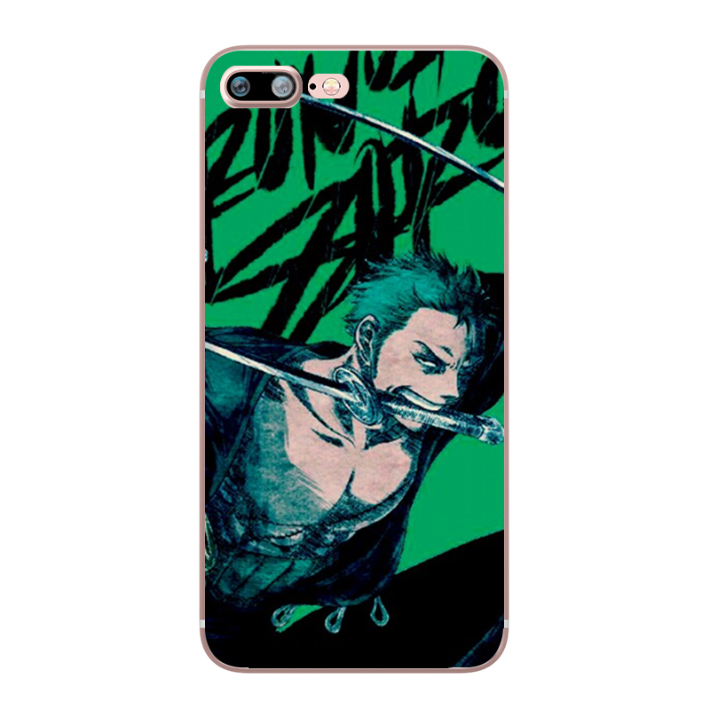 ONE PIECE Phone Case Japanese Anime Luffy Zoro Coque for Apple iphone 7 8 plus 6S X 5 6 5S SE 6PLUS Silicone Soft Clear TPU Capa (12)