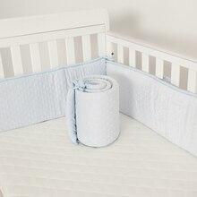 Детская кроватка бампер для новорожденных бамперы детское безопасное ограждение линия детская защита для кроватки мягкая флисовая плотная подушка детская кровать бампер