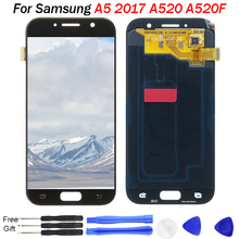 For Samsung A520 LCD Display OLED Catteny A520F A5 2017 Display Screen For Samsung Galaxy A520 Screen With Touch Digitizer Parts super amoled a520 lcd for samsung galaxy a5 2017 a520f a520f ds a520k sm a520f display touch screen digitizer assembly lcd parts
