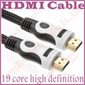9FT 1 м, 3 м, 5 м, 8 м, 10 м, 12 м, 15 м высокоскоростной позолоченные штекер g-мужчины HDMI кабель 1.4 версия w нейлоновой сеткой 1080 P 3D для HDTV XBOX PS3