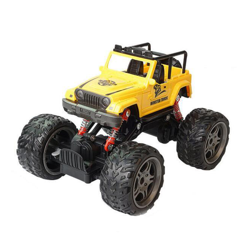 Children Toys RC Car Vehicle Big Tire Four Wheels Jeep SUV Off Road Electric Toy Rock Climbing Cars USB Charging Boys Kids Gifts