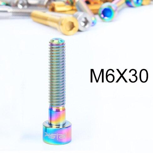 1PCS M6x30//35//40//50mm Titanium Bolt for Bicycle Headset Bolt 1 1//8 Ti Stem Cap