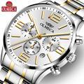OLMECA Мужские часы Роскошные бизнес хронограф кварцевые часы relogio masculino мужские стальные 30 м Водонепроницаемые наручные часы