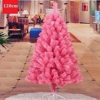 1.2 메터/120 센치메터 암호화 환경 친화적 인 소재 PVC 핑크 크리스마스 트리 장식 새해 용품 쇼핑몰 호텔 ZA1483