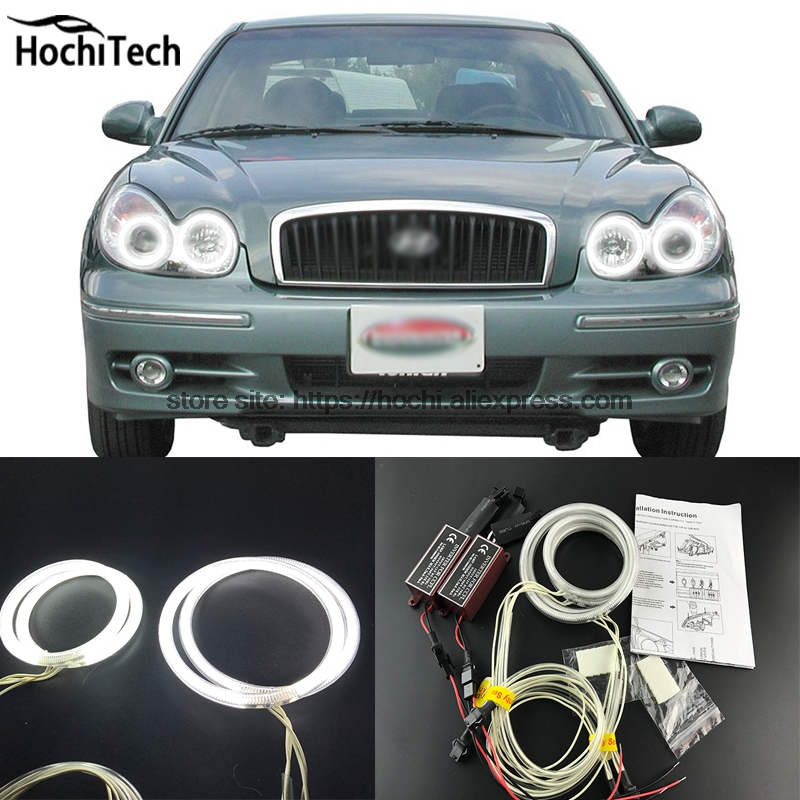 HochiTech WHITE 6000K CCFL Headlight Halo Angel Demon Eyes Kit angel eyes light for Hyundai Sonata 2002 2003 2004 2005 браслеты page 8