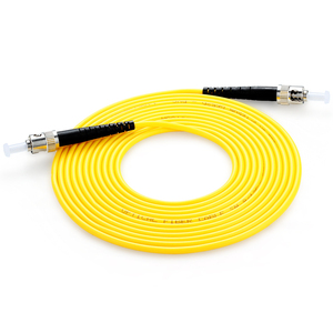 Image 5 - 10 pièces Simplex Fiber optique cordon de raccordement ST UPC ST UPC monomode Fiber optique câble de raccordement 3.0mm3M ST ST Fiber optique cordon de raccordement