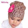 Модные Девочки Leopard Hat Шапочка Leopard Stretch Beautiful Boy Шапки Цветочные Вязание Крючком Весна Для Детей 24 Цвет Аксессуары