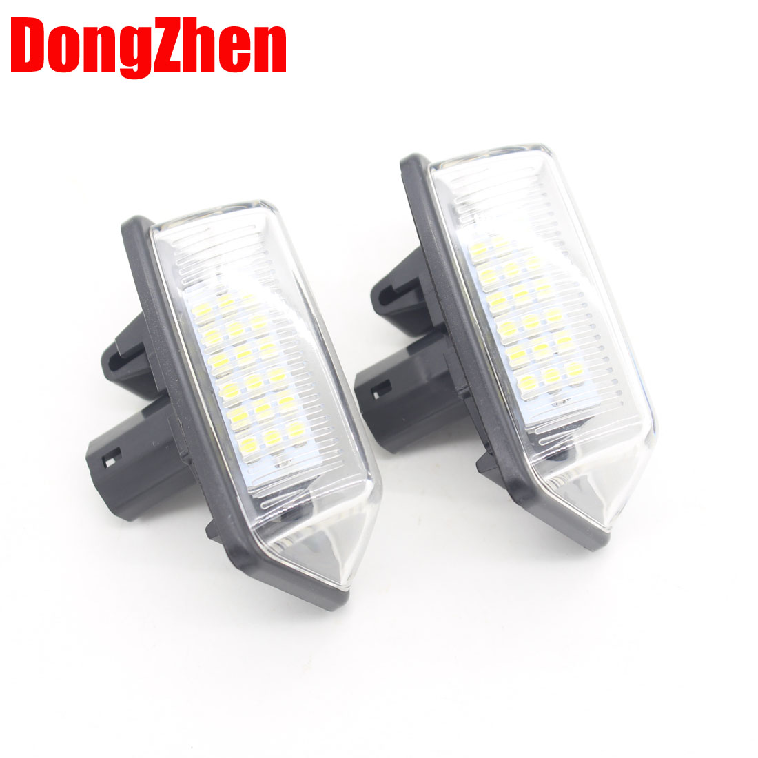DongZhen Car Error Free 18LED 3528 SMD License Plate Light Lamp Fit For Toyota Crown Bright White Free Shipping 2pcs new arrival 2pcs 18 smd 3528 led license plate light lamp bulb white for bmw e46 2 door 1998 2003 12 30v free shipping