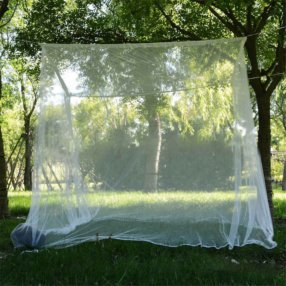Besar Putih Camping Nyamuk Indoor Outdoor Tas Penyimpanan Serangga Tenda Nyamuk Indoor Outdoor Tas Penyimpanan Serangga Tenda