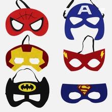 28pcs/lot Wholesale Halloween Superman Batman Spiderman Hulk Thor IronMan Princess Eye Mask Animal Cartoon Masks