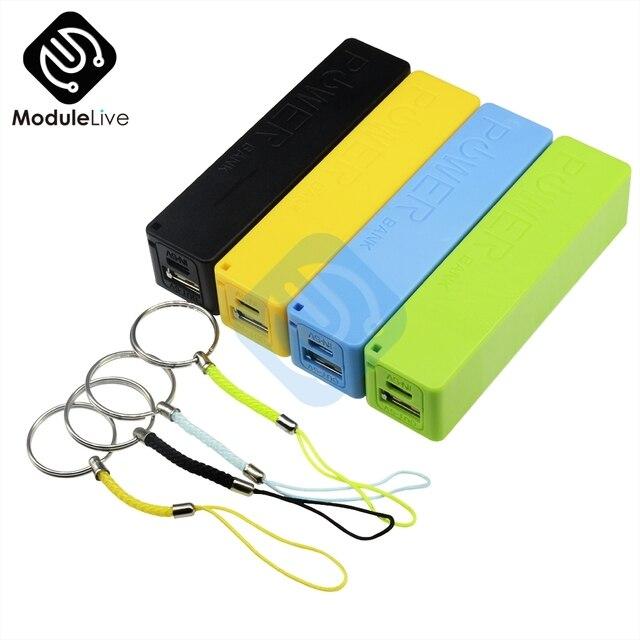 USB Ngân Hàng Điện Trường Hợp Kit 18650 Battery Charger DIY Hộp Bộ Vỏ Màu Xanh Màu Xanh Lá Cây Vàng Đen Pin Sạc TỰ LÀM Hộp