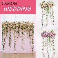 Новые свадебные Композиции декоративные цветочные композиции T платформы дорога фон стены студии окна свадебные аксессуары