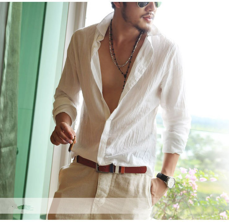 HTB1TlDhHVXXXXayapXXq6xXFXXXz - Shirts Swag Cotton Linen Men Shirt Long Sleeve Summer Style