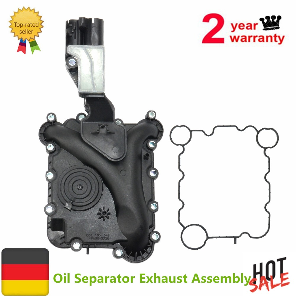 AP01 NEW 06E 103 547 E Engine Oil Separator Exhaust Assembly For Audi A4 A5 A6 Q5 2.8 3.2 V6 06E103547E 06E 103 547 V10-3502