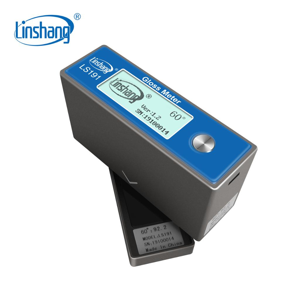 Linshang LS191 Gloss Meter Sheen tester with Angle 60 degrees 0 200Gu for ceramic glossiness coating