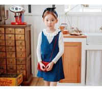2017 Cotton Casual Korean Girls New Slim Denim Dress Solid Color Sleeveless Vest Base Dress