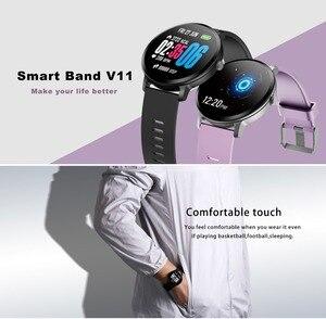 Image 2 - 696 V11 חכם שעון לחץ דם רטט מזג אוויר תחזית Smartwatch גברים נשים פעילות כושר צמיד עבור אנדרואיד IOS