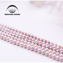MADALENA SARARA AAA Freshwater Pearl Genuine Natural Pearl Pink White Purple 8-9mm For DIY Jewelry Making 18