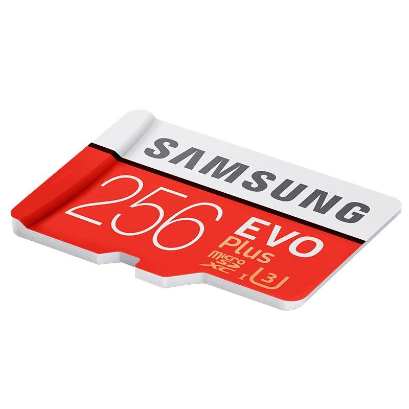 SAMSUNG Micro carte mémoire SD 256 GB Class10 EVO Plus TF carte C10 SDXC Trans mémoire Flash pour Huawei P10 & LG G5 téléphone portable - 6