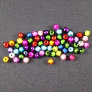 50 قطعة/الوحدة جولة الاكريليك الخرز لعب للأطفال فتاة اليدوية سوار ذاتي الصنع قلادة الملونة الاطفال الكريستال حبة Diy هدية