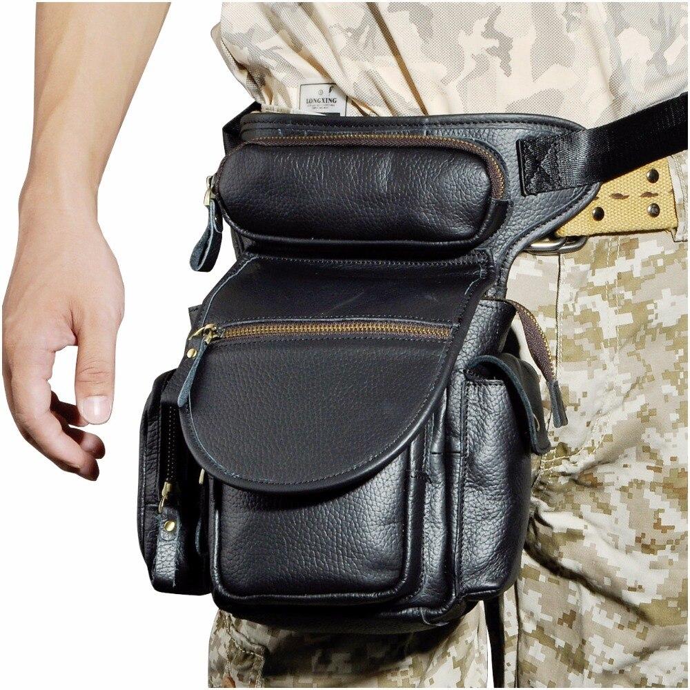 Practical Original Leather Men Design Casual Messenger Shoulder Sling Bag Fashion Multifunction Waist Belt Pack Drop Leg Bag Pouch 3109b Fine Jewelry