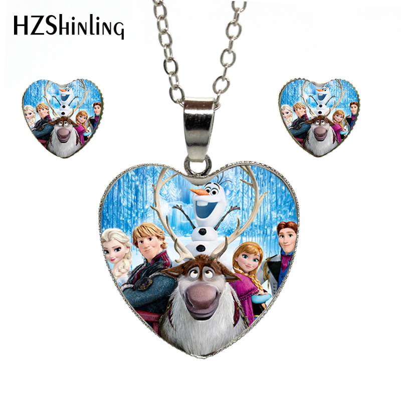 Snow Queen Diamontrigue Jewelry: New Arrival Snow Queen Anime Movie Jewelry Heart Necklace