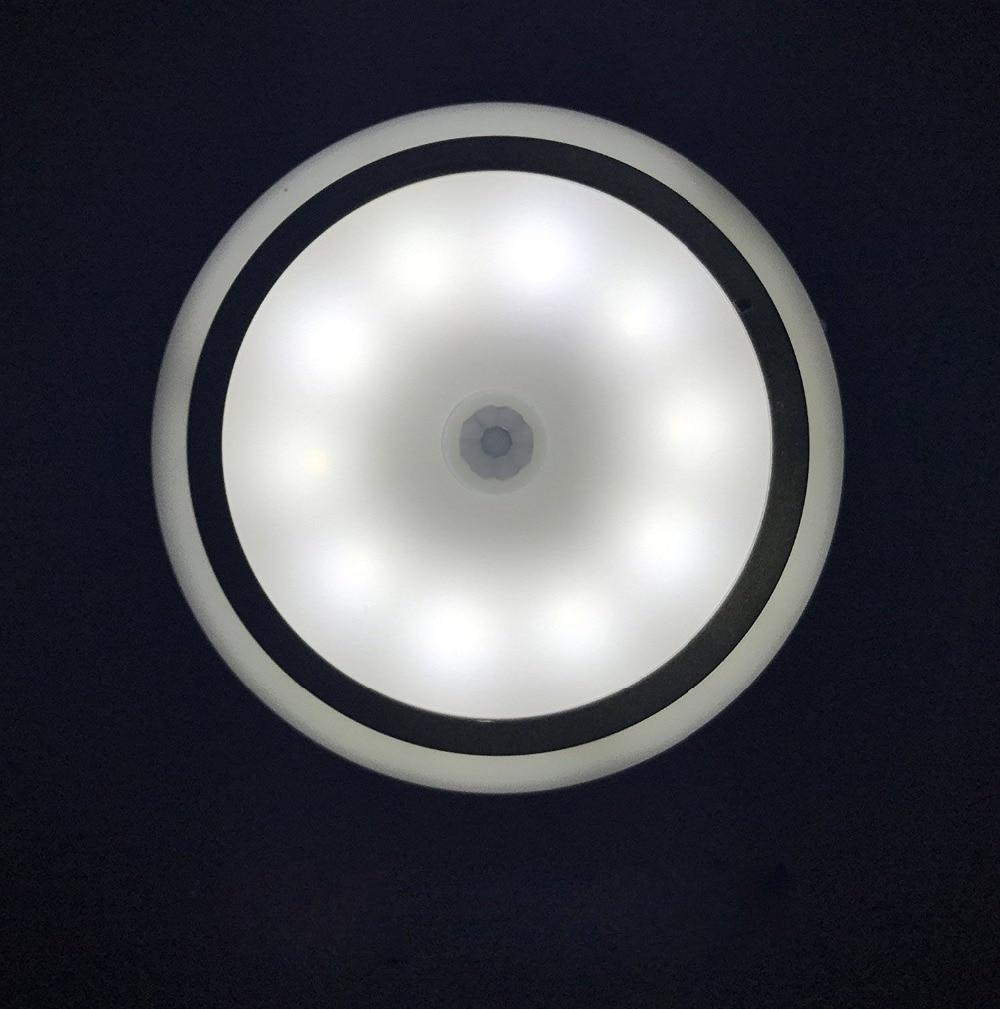 цена на Light sensor light 10 LED indoor infrared night light body sensor 3-5M range night light