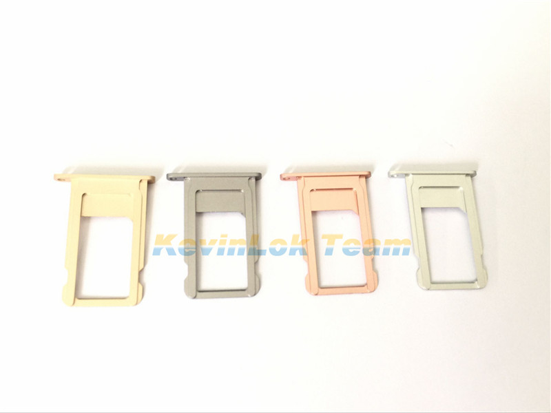 5pcs/lot Hot Selling High Quality Replacement Parts For iPhone 6S 6S Plus Black Gold  Silver Pink SIM Card Slot Tray Holder