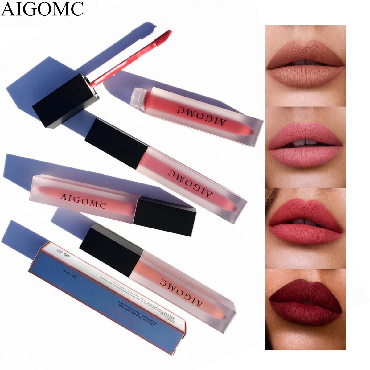 Beauty Glazed Lipstick Nude 6PCS Matte Liquid Lip Gloss