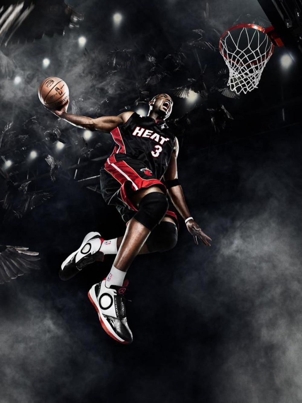 dwyane wade basketball star fabric poster 32 x 24 17 x13 01