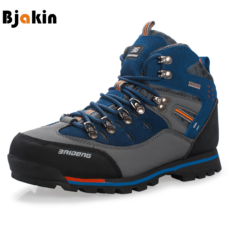 Bjakin High Quality Men Hiking Shoes Outdoor Waterproof Trekking Boots Mountain Sports Shoes Hunting Ankle Boots Big Size 46 EUR