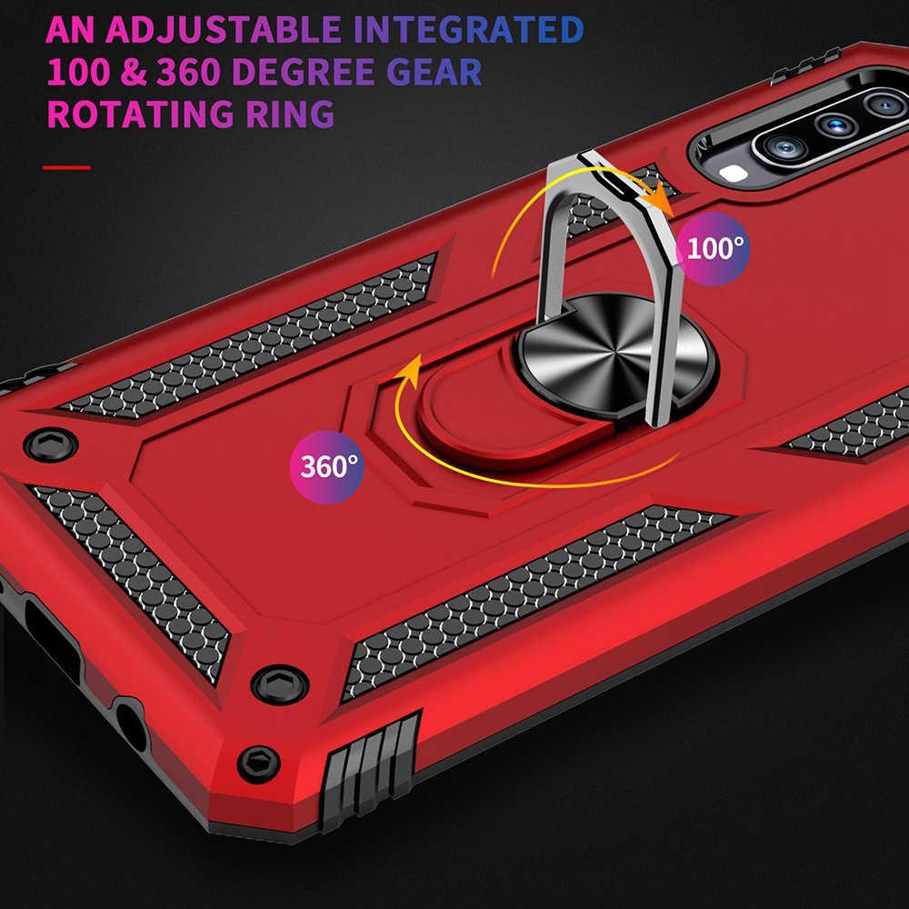Funda a prueba de golpes para Samsung Galaxy S8 S9 S10 Plus S10e Note 8 9 A8 A20 A30 A40 funda de anillo de silicona para coche