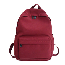 The minimalist style Backpack High Quality Water proof Nylon Leisure Or Travel Bag Solid Fresh Pink School Bag for Teenage Girls цена 2017