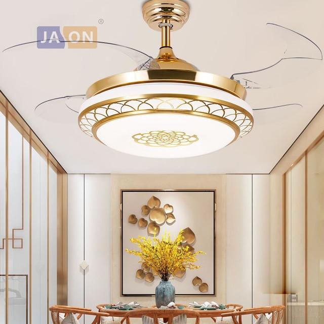 LED מודרני ברזל אקריל ABS שלט רחוק מאוורר תקרת מנורת LED. אורות תקרה. LED תקרת אור. תקרת מנורת מבואה