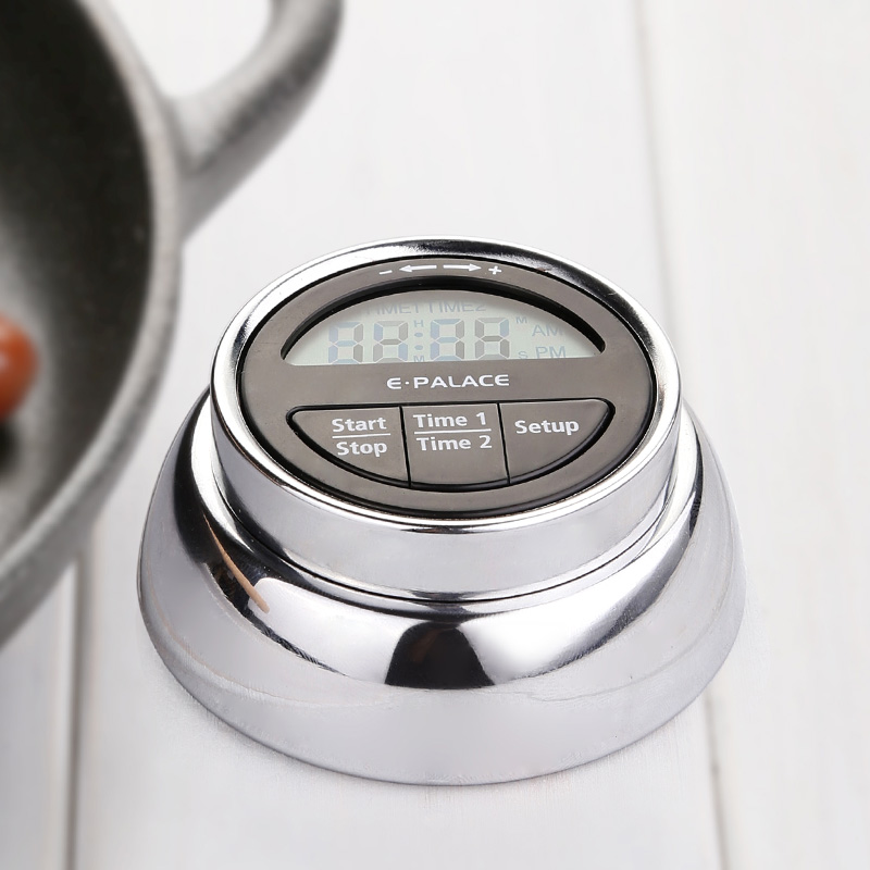 New digital lcd Magnetic kitchen cooking timer Stand Up Down Alarm Clock 99 minutes remind alarm clock for baking tool