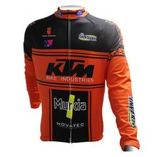 Фотография 2017 KTM Long Sleeve Cycling Jersey quick-dry mountain bike clothes ropa ciclismo bicycle wear China Cheap Sportwear H10