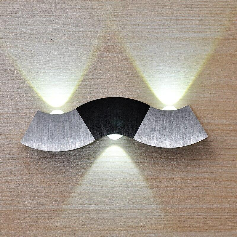 Moderno led lámparas dormitorio pared 3 W arriba abajo pasillo iluminación llevada de interior