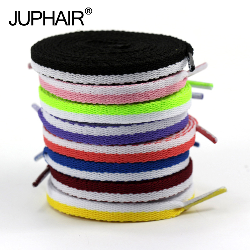 JUP12 Pairs ShoeLaces Shoes Shoestring 120-140 Cm Athletic Women Shengdai Footwear Flat Shoelaces Colorful Bootlaces Multi Color 5 pairs 1cm width british scotland plover grid style shoelaces canvas shoes sneakers flat shoes lace 70 80 90 100 110 120 130cm