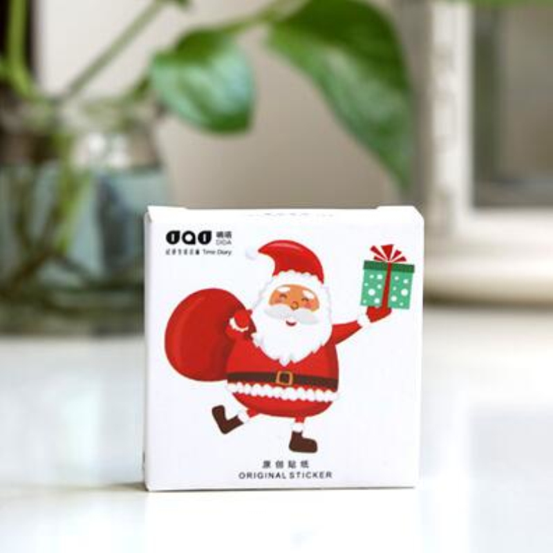 48Pcs/pack Santa Claus Merry Christmas Label Stickers Decorative Stickers Scrapbooking DIY Diary Album Stick Label Gift M0008 1 pair dc 12v car warning lights red rear bumper light 5w led lights