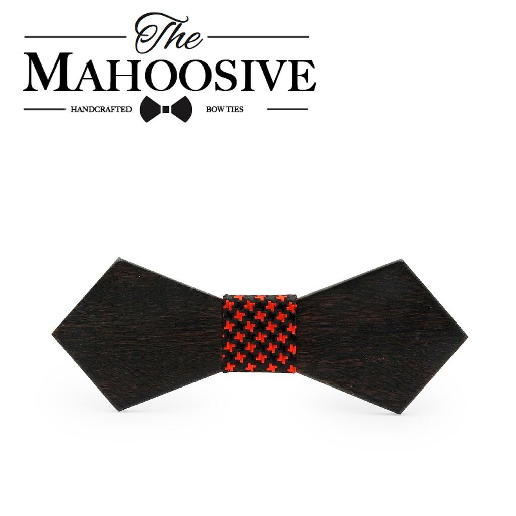 Mahoosive Solid wooden Necktie Mens Wedding Suits Wooden Bow Tie