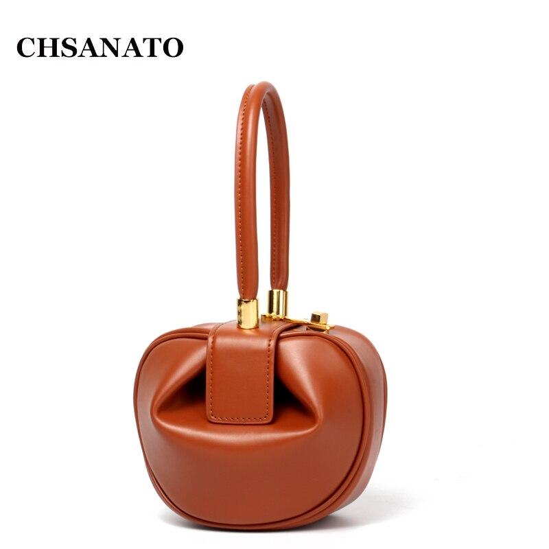 CHSANATO Luxury Handbags Women Bags Designer Dumplings Bags For Woman 2018 Napa Leather Ladies Tote Hand
